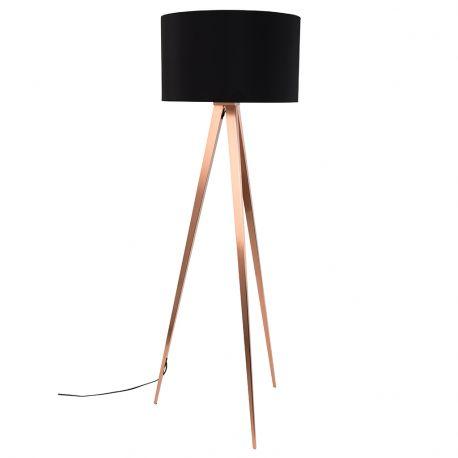 Lampa podłogowa TRIPOD COPPER czarny - Zuiver