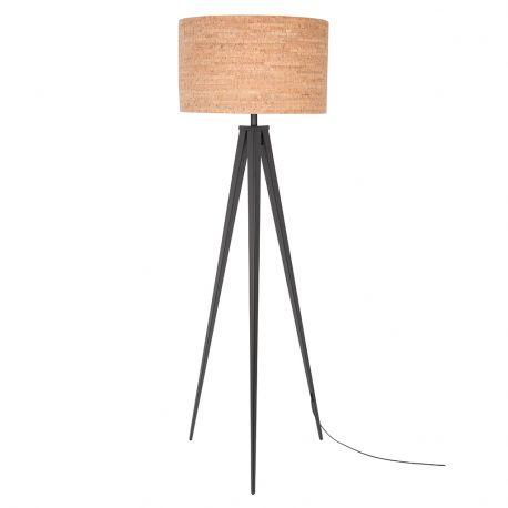 Lampa podłogowa TRIPOD CORK czarna