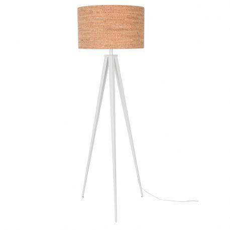Lampa podłogowa TRIPOD CORK biała - Zuiver