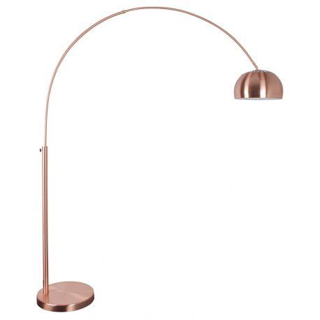 Lampa podłogowa METAL BOW, miedziana - Zuiver