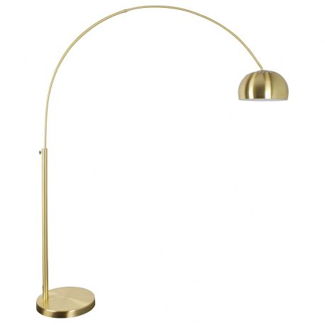 Lampa podłogowa METAL BOW, mosiężna - Zuiver