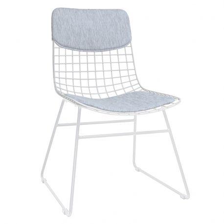 Pokrycie na krzesło COMFORT (siedzisko+oparcie), białe - HK living