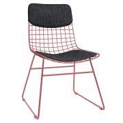 Pokrycie COMFORT na krzesło WIRE (siedzisko+oparcie), czarne