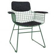 Pokrycie COMFORT na fotel WIRE (siedzisko+oparcie+podłokietniki), czarne - HK living