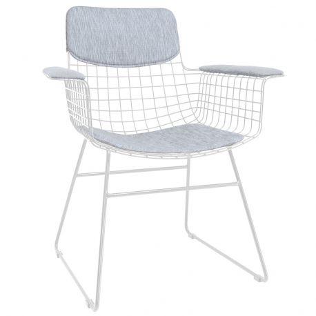 Pokrycie COMFORT na fotel WIRE (siedzisko+oparcie+podłokietniki), szare
