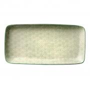 Talerz ceramiczny prostokątny seria ISABELLA, zielony wzór