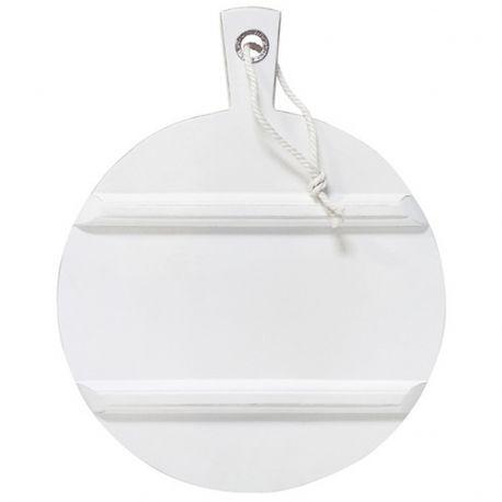 Deska do krojenia, okrągła, M biała - HK living
