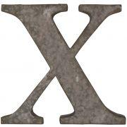 Litera metalowa na ścianę, X