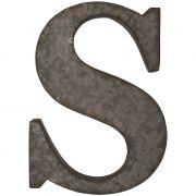 Litera metalowa na ścianę, S