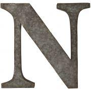 Litera metalowa na ścianę, N