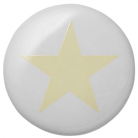 Wieszak ceramiczny GWIAZDKA żółta  - Bloomingville