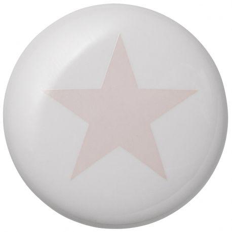 Gałka ceramiczny GWIAZDKA różowa