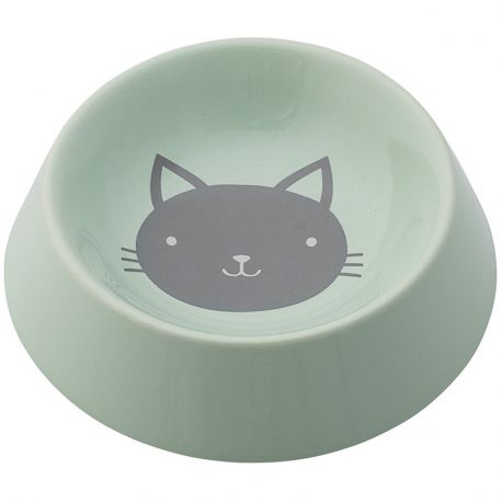 Miseczka ceramiczna dla kota, miętowa - Bloomingville