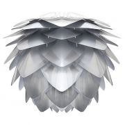 Abażur SILVIA srebrno- biały  - UMAGE