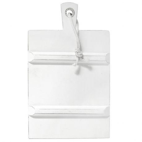 Deska do krojenia, prostokątna, M biała