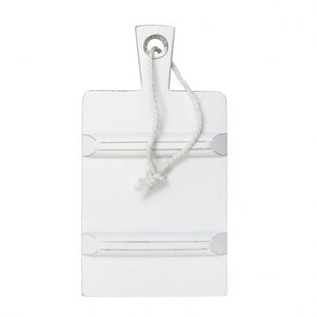 Deska do krojenia, prostokątna, S biała - HK living