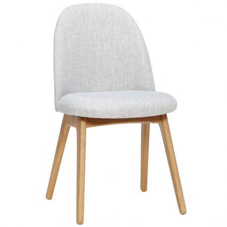 Krzesło z szarym siedziskiem - Hübsch