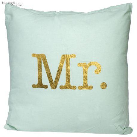 Poszewka na poduszkę MR, miętowa, 45 x 45 cm