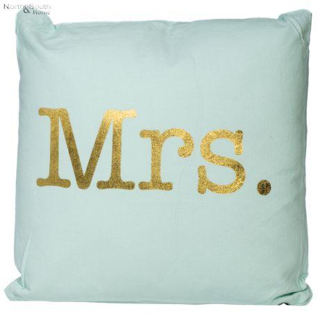 Poszewka na poduszkę MRS, miętowa, 45 x 45 cm