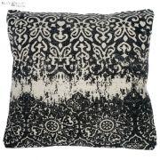 Poduszka z wzorem, czarno- kremowa, 43 x 43 cm