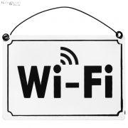 Tabliczka metalowa  Wi-Fi