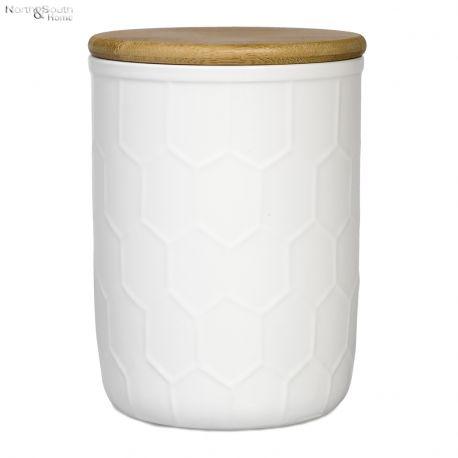 Pojemnik z pokrywką, biały, średni