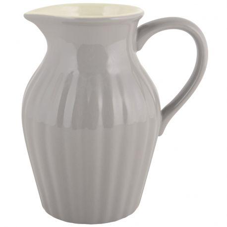 Dzbanek ceramiczny duży, szary - Ib Laursen