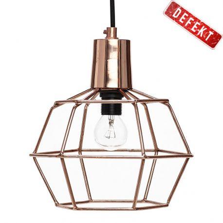 Lampa druciana miedziana DEFEKT - Hübsch