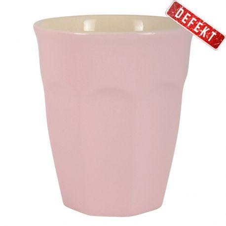 Kubek ceramiczny MYNTE mały, różowy - DEFEKT 2