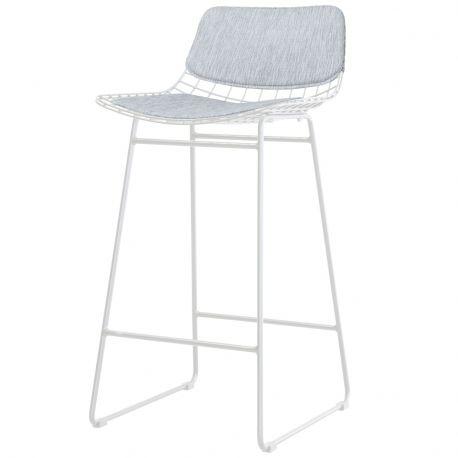 Pokrycie do krzesła barowe WIRE (siedzi.+oparcie),czarne