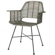 Krzesło rattanowe TUB, oliwkowe