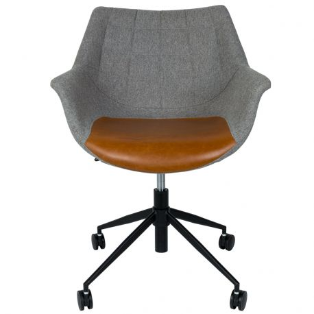 Krzesło biurowe DOULTON vintage, szaro-brązowy - Zuiver