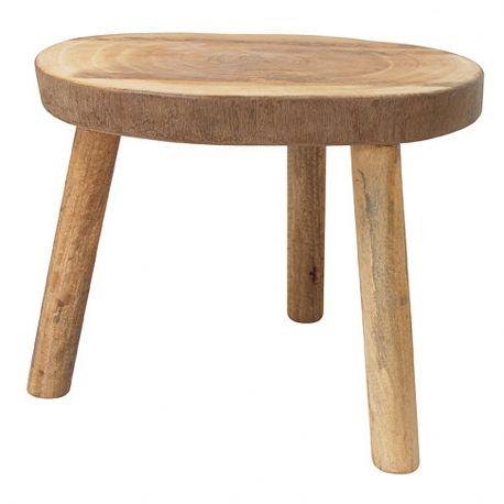 Stolik w kształcie pnia drewna