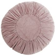 Poduszka welurowa, okrągła, fioletowa