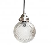 Lampa ze szklanym kloszem, okrągła 15 cm