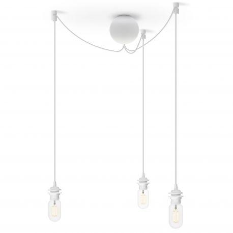 Zawieszenie do lamp CANNONBALL potrójne, białe - UMAGE