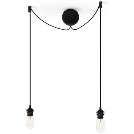 Zawieszenie do lamp CANNONBALL podwójne, czarne - UMAGE