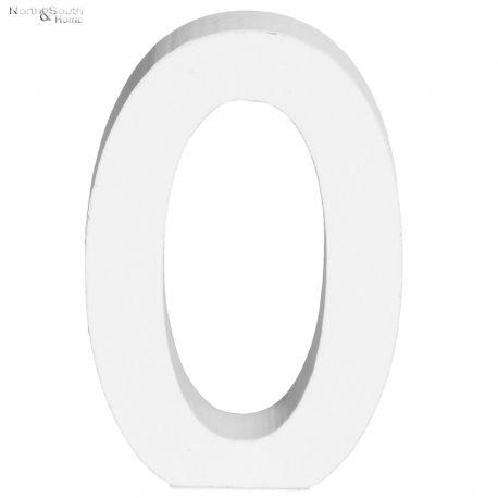 Cyfra 0 biała