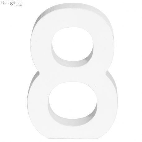 Cyfra 8 biała