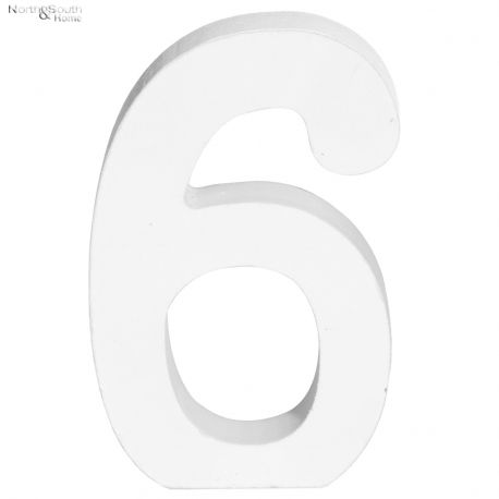 Cyfra 6 biała
