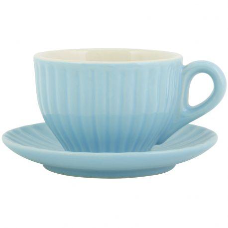 Filiżanka Espresso ze spodek MYNTE, niebieska - Ib Laursen