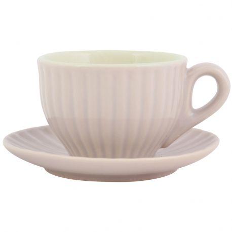 Filiżanka Espresso ze spodek MYNTE, latte - Ib Laursen