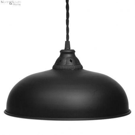 Lampa wisząca FACTORY duża, czarna