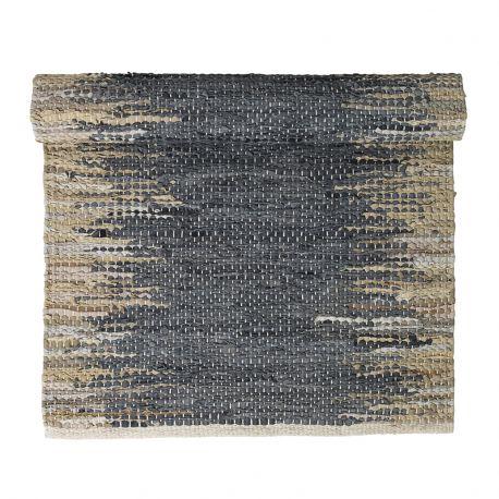 Dywanik WEAVE, 70x140 cm, niebiesko-piaskowy - Broste Copenhagen