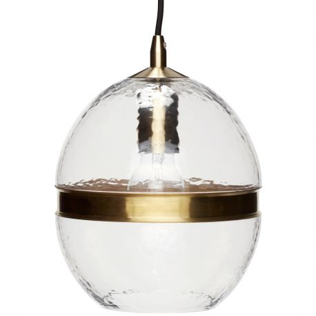 Lampa ze szklanym kloszem  - Hübsch
