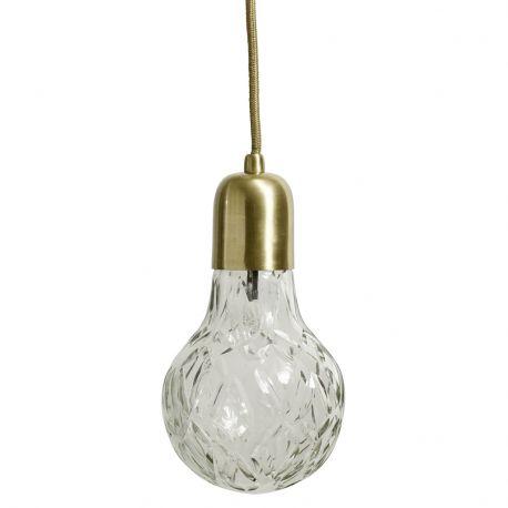 Lampa CRYSTAL BULB, złota - Nordal