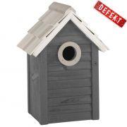 Domek dla ptaków, kolor szary - DEFEKT