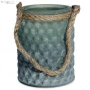 Lampion z jutowym sznurkiem RUSTO, zielony