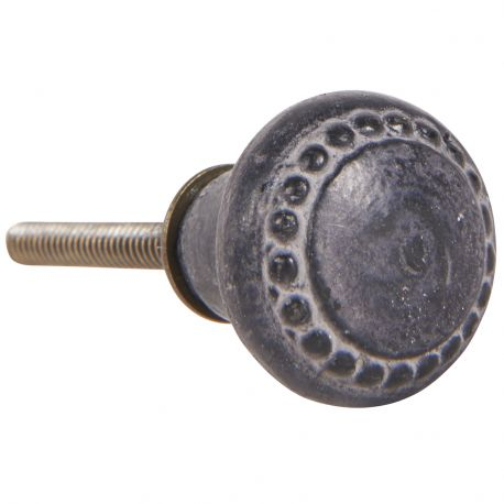 Gałka do mebli metalowa ze wzorem - Ib Laursen