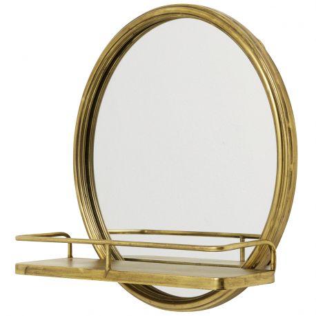 Lustro z półką złote - Nordal